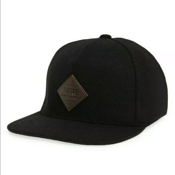 6eb1352eec7 Vans Grove Men s Snapback Hat Wool Polyester